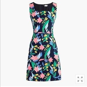J Crew Dress Floral square neck